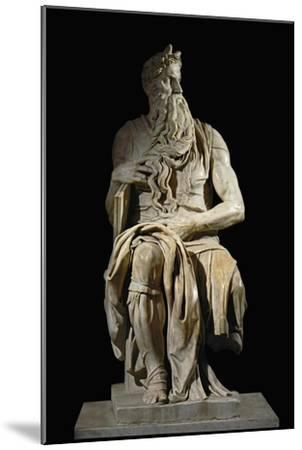 Moses, from the Tomb of Pope Julius II in San Pietro in Vincoli, Rome-Michelangelo Buonarroti-Mounted Giclee Print