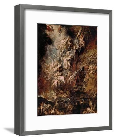 The Fall of the Damned-Peter Paul Rubens-Framed Giclee Print