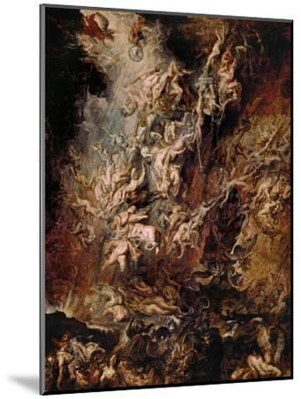 The Fall of the Damned-Peter Paul Rubens-Mounted Giclee Print