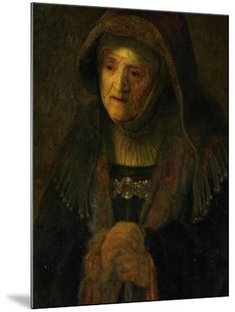 The Artist's Mother, as Prophetess Hannah-Rembrandt van Rijn-Mounted Giclee Print