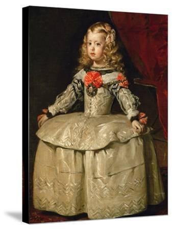 Infanta Margarita Teresa in White Garb-Diego Velazquez-Stretched Canvas Print