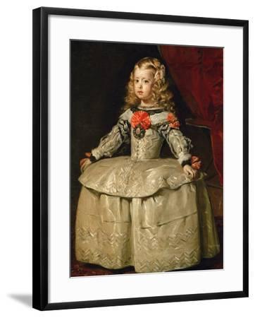 Infanta Margarita Teresa in White Garb-Diego Velazquez-Framed Giclee Print