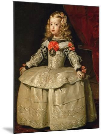 Infanta Margarita Teresa in White Garb-Diego Velazquez-Mounted Giclee Print
