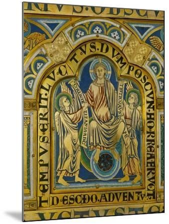 The Second Coming, Christ Orders Two Angels to Begin the Partition of Souls-Nicholas of Verdun-Mounted Giclee Print