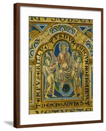 The Second Coming, Christ Orders Two Angels to Begin the Partition of Souls-Nicholas of Verdun-Framed Giclee Print