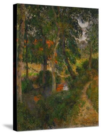 Father Jean's Walk or the Red Roofs, 1886-Paul Gauguin-Stretched Canvas Print