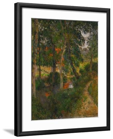 Father Jean's Walk or the Red Roofs, 1886-Paul Gauguin-Framed Giclee Print