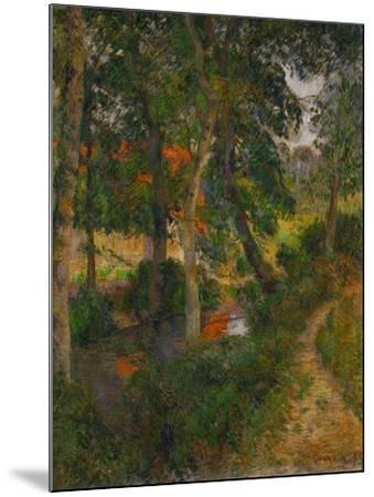 Father Jean's Walk or the Red Roofs, 1886-Paul Gauguin-Mounted Giclee Print