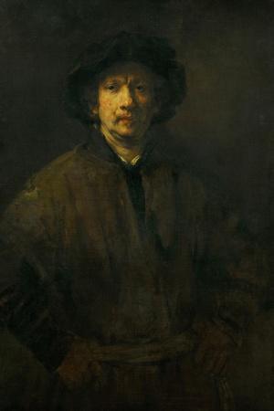 Large Self-Portrait, 1652-Rembrandt van Rijn-Stretched Canvas Print