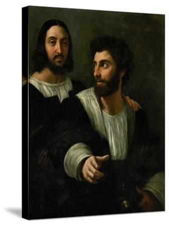 Raphael (Self-Portrait) and His Fencing Master-Raphael-Stretched Canvas Print
