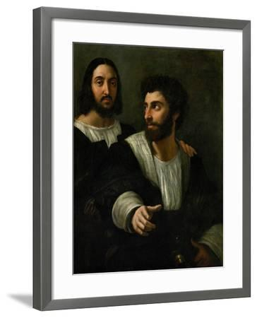 Raphael (Self-Portrait) and His Fencing Master-Raphael-Framed Giclee Print