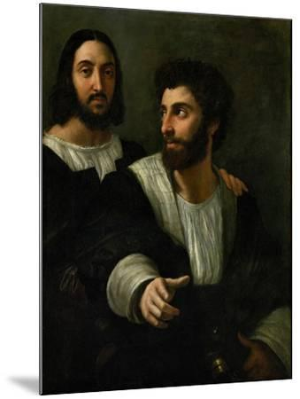Raphael (Self-Portrait) and His Fencing Master-Raphael-Mounted Giclee Print