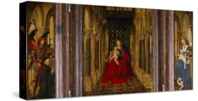 Enthronement of Saint Mary-Jan van Eyck-Stretched Canvas Print