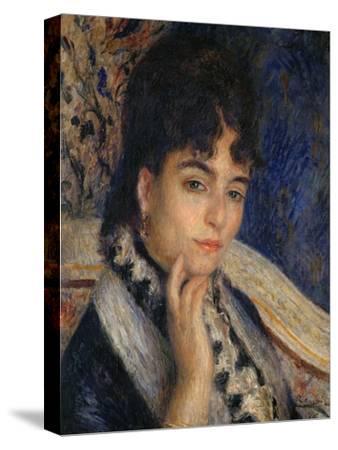 Mme. Alphonse Daudet, Nee Julie Allard, (1844-1940), Wife of the Poet, 1876-Pierre-Auguste Renoir-Stretched Canvas Print