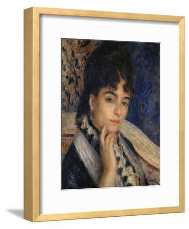 Mme. Alphonse Daudet, Nee Julie Allard, (1844-1940), Wife of the Poet, 1876-Pierre-Auguste Renoir-Framed Giclee Print