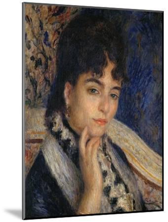 Mme. Alphonse Daudet, Nee Julie Allard, (1844-1940), Wife of the Poet, 1876-Pierre-Auguste Renoir-Mounted Giclee Print