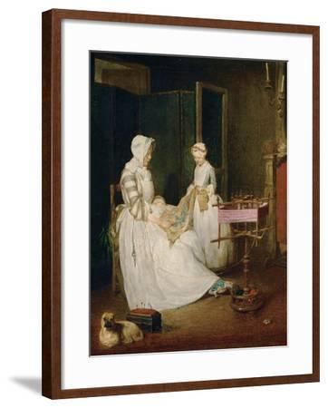 The Diligent Mother, 1740-Jean-Baptiste Simeon Chardin-Framed Giclee Print