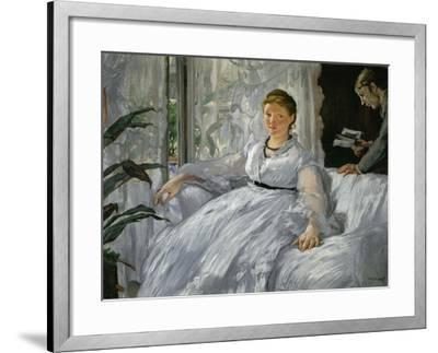 Mme. Edouard Manet (1830-1906) and Her Son, Leon Koella-Leenhoff (1852-1927)-Edouard Manet-Framed Giclee Print