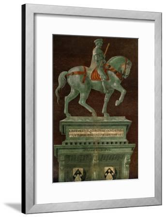 Condottiere John Hawkwood (1320-1394), Equestrian Portrait-Paolo Uccello-Framed Giclee Print