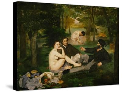 Dejeuner Sur L'Herbe (Luncheon on the Grass), 1863-Edouard Manet-Stretched Canvas Print