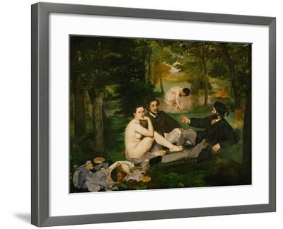 Dejeuner Sur L'Herbe (Luncheon on the Grass), 1863-Edouard Manet-Framed Giclee Print
