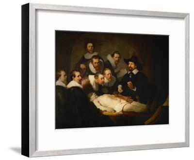 The Anatomy Lesson of Dr. Nicolaes Tulp-Rembrandt van Rijn-Framed Giclee Print