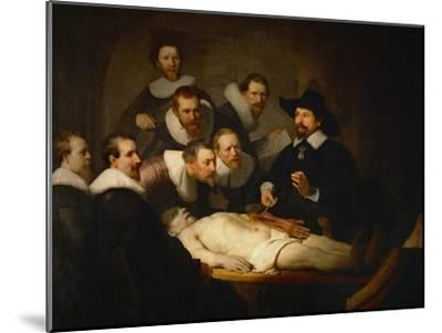 The Anatomy Lesson of Dr. Nicolaes Tulp-Rembrandt van Rijn-Mounted Giclee Print