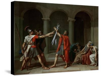 The Oath of the Horatii-Jacques-Louis David-Stretched Canvas Print