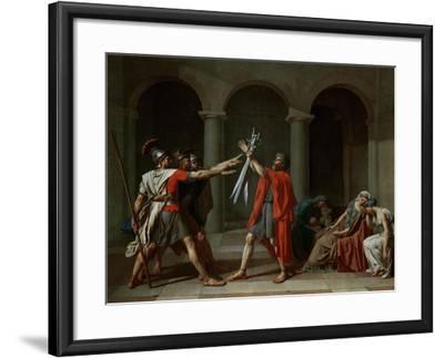The Oath of the Horatii-Jacques-Louis David-Framed Giclee Print