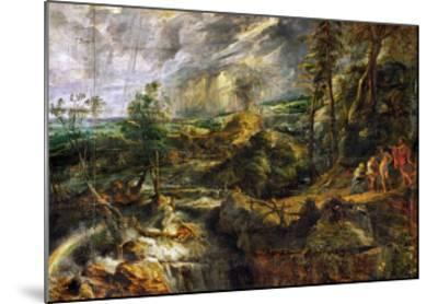 Landscape in a Thunderstorm, Philemon and Baucis, Jupiter and Mercury, circa 1620-Peter Paul Rubens-Mounted Giclee Print