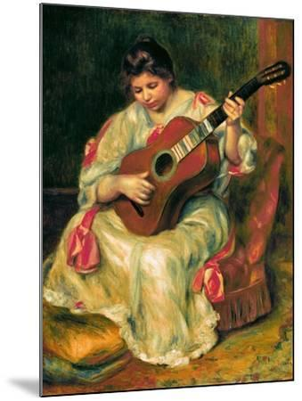The Guitar Player-Pierre-Auguste Renoir-Mounted Giclee Print