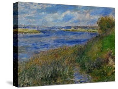 La Seine a Champrosay, Banks of the Seine River at Champrosay, 1876-Pierre-Auguste Renoir-Stretched Canvas Print