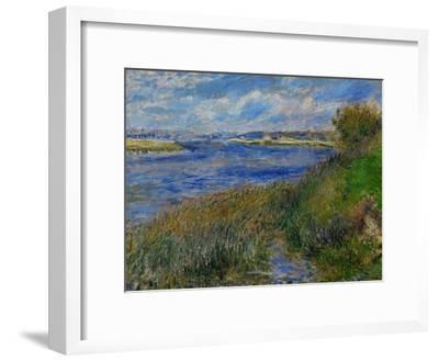 La Seine a Champrosay, Banks of the Seine River at Champrosay, 1876-Pierre-Auguste Renoir-Framed Premium Giclee Print