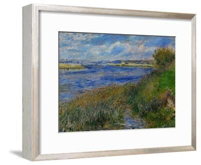 La Seine a Champrosay, Banks of the Seine River at Champrosay, 1876-Pierre-Auguste Renoir-Framed Giclee Print