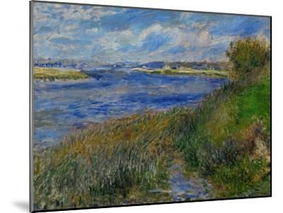 La Seine a Champrosay, Banks of the Seine River at Champrosay, 1876-Pierre-Auguste Renoir-Mounted Giclee Print