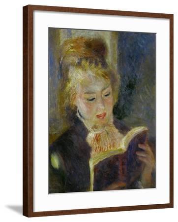 The Reader (La Liseuse), 1874-1876-Pierre-Auguste Renoir-Framed Giclee Print