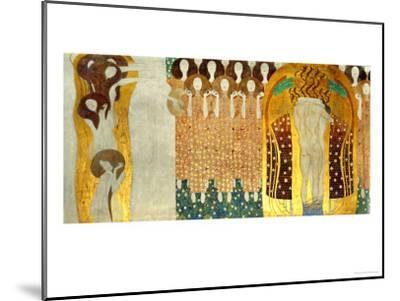 The Final Chorus of Beethoven's 9th Symphony-Gustav Klimt-Mounted Giclee Print