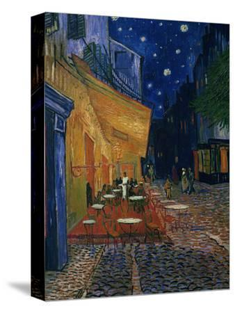 The Cafe Terrace on the Place du Forum, Arles, at Night, c.1888-Vincent van Gogh-Stretched Canvas Print