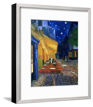 The Café Terrace on the Place du Forum, Arles, at Night, c.1888-Vincent van Gogh-Framed Premium Giclee Print