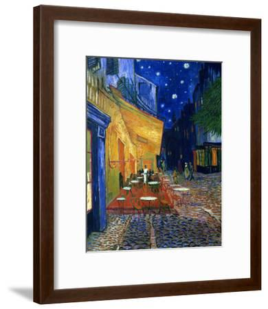 The Café Terrace on the Place du Forum, Arles, at Night, c.1888-Vincent van Gogh-Framed Premium Giclee Print