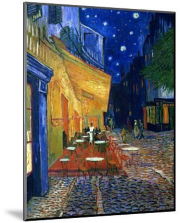 The Café Terrace on the Place du Forum, Arles, at Night, c.1888-Vincent van Gogh-Mounted Premium Giclee Print