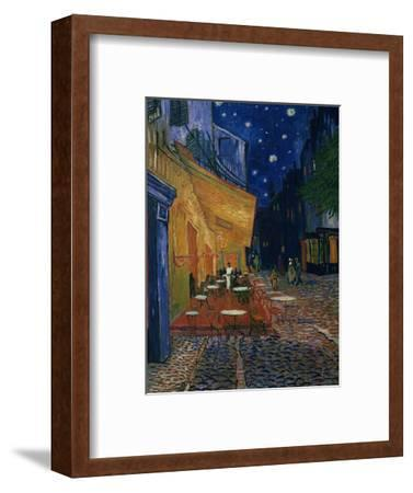 The Café Terrace on the Place du Forum, Arles, at Night, c.1888-Vincent van Gogh-Framed Giclee Print