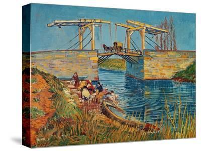 The Drawbridge at Arles with a Group of Washerwomen, c.1888-Vincent van Gogh-Stretched Canvas Print