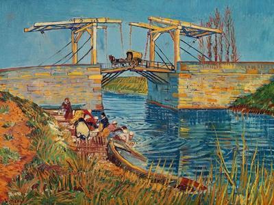 The Drawbridge at Arles with a Group of Washerwomen, c.1888-Vincent van Gogh-Giclee Print