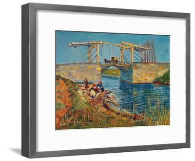 The Drawbridge at Arles with a Group of Washerwomen, c.1888-Vincent van Gogh-Framed Giclee Print