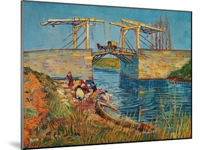 The Drawbridge at Arles with a Group of Washerwomen, c.1888-Vincent van Gogh-Mounted Giclee Print
