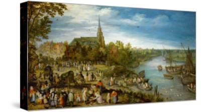 Village Fair in Schelle, 1614-Jan Brueghel the Elder-Stretched Canvas Print