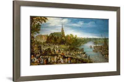 Village Fair in Schelle, 1614-Jan Brueghel the Elder-Framed Giclee Print