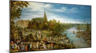 Village Fair in Schelle, 1614-Jan Brueghel the Elder-Mounted Giclee Print