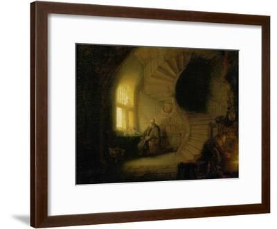 Meditating Philosopher, 1632-Rembrandt van Rijn-Framed Giclee Print